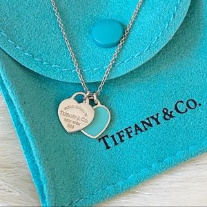 [FIRM] Tiffany & Co. Double Heart Pendant Necklace